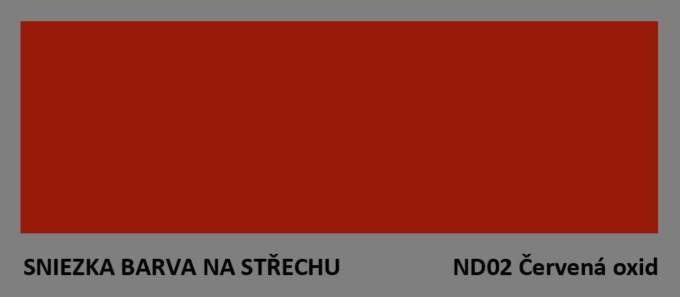 BARVA NA STŘECHU - vzorník - ND02 červená oxid