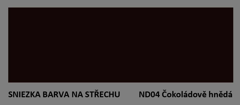 BARVA NA STŘECHU - vzorník - ND04 čokoládově hnědá