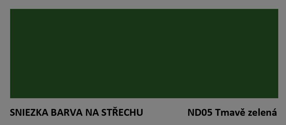 BARVA NA STŘECHU - vzorník - ND05 tmavě zelená