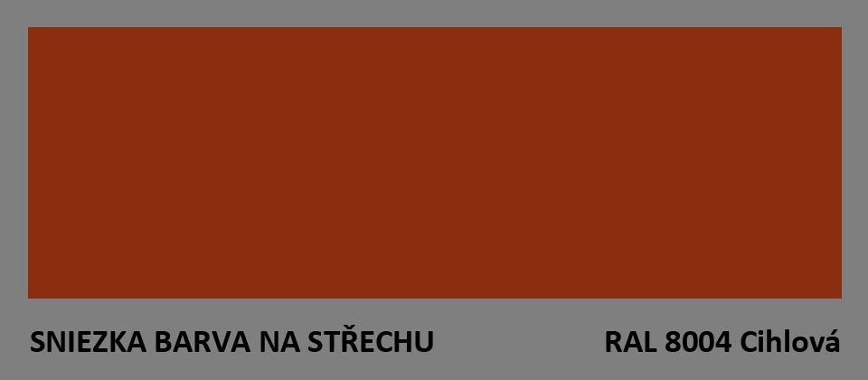 BARVA NA STŘECHU - vzorník - RAL 8004 cihlová