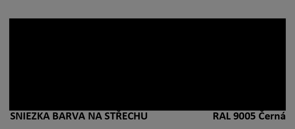 BARVA NA STŘECHU - vzorník - RAL 9005 černá