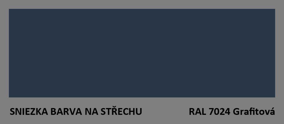 BARVA NA STŘECHU - vzorník - RAL 7024 grafitová