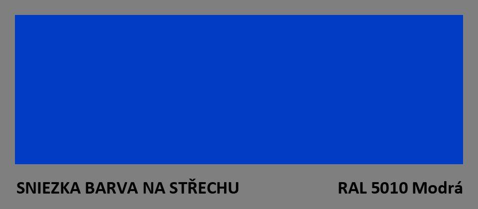 BARVA NA STŘECHU - vzorník - RAL 5010 modrá