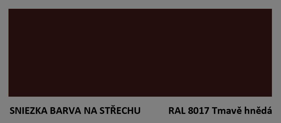 BARVA NA STŘECHU - vzorník - RAL 8017 tmavě hnědá