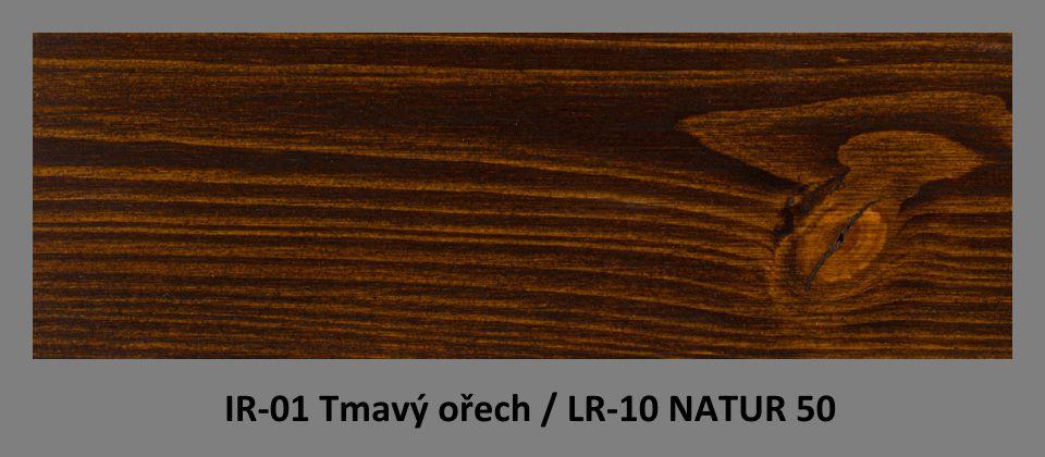 PLUS Impregnační olej IR-01 Tmavý ořech & lazura LR-10 Natur 50