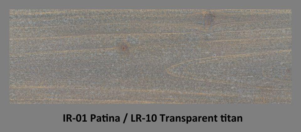 PLUS Impregnační olej IR-01 Patina & lazura LR-10 Titan transparent