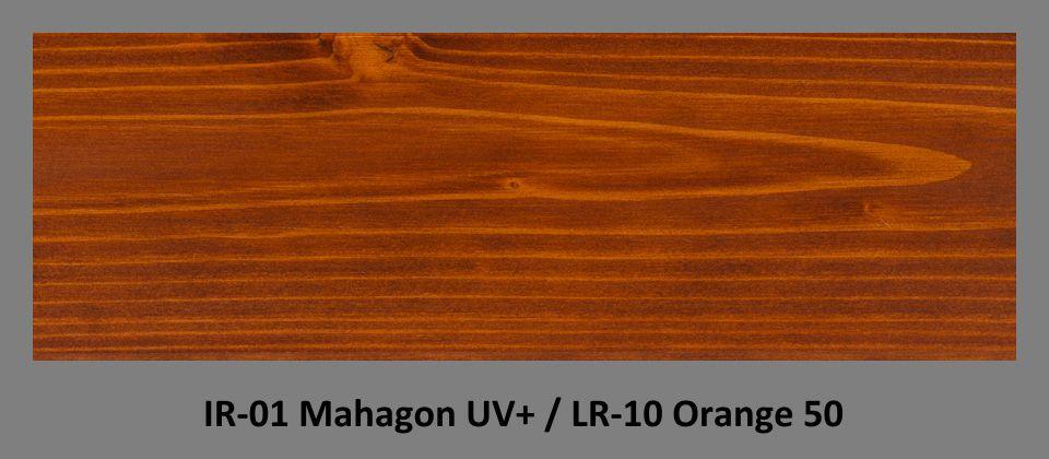 PLUS Impregnační olej IR-01 Mahagon UV+ & lazura LR-10 Orange 50