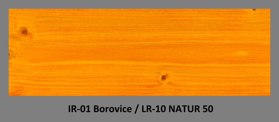 PLUS Impregnační olej IR-01 Borovice & lazura LR-10 Natur 50