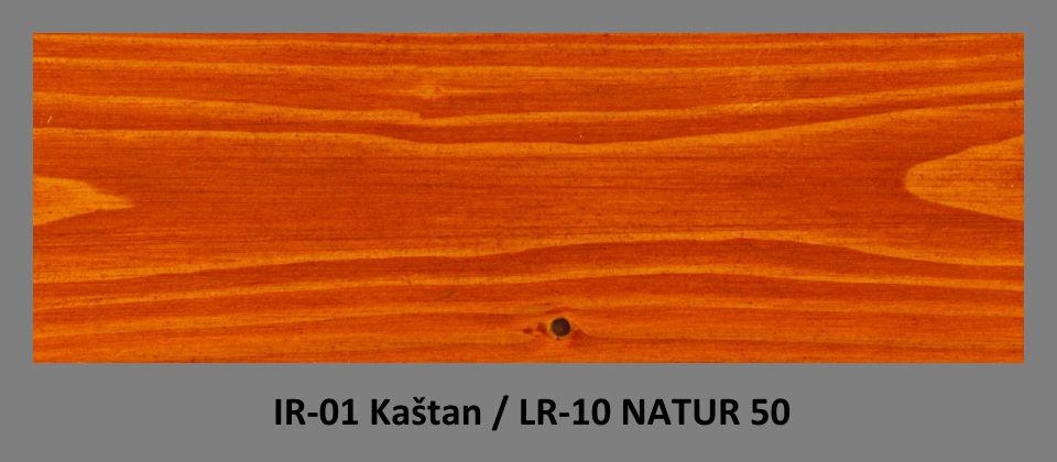 PLUS Impregnační olej IR-01 Kaštan & lazura LR-10 Natur 50