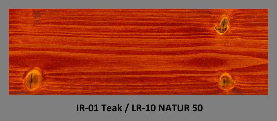 PLUS Impregnační olej IR-01 Teak & lazura LR-10 Natur 50