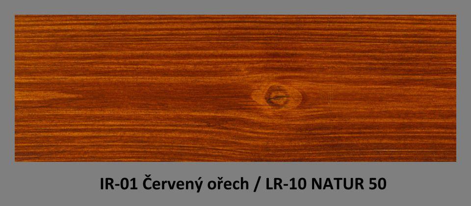 PLUS Impregnační olej IR-01 Červený ořech & lazura LR-10 Natur 50