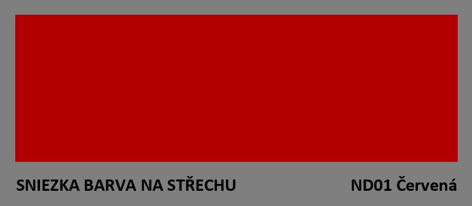 BARVA NA STŘECHU - vzorník - ND01 červená