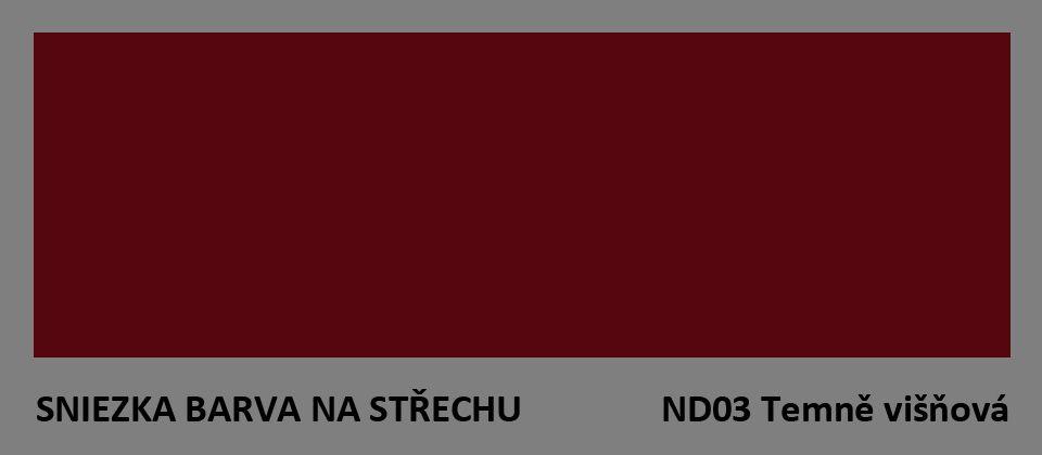 BARVA NA STŘECHU - vzorník - ND03 tmavě višňová