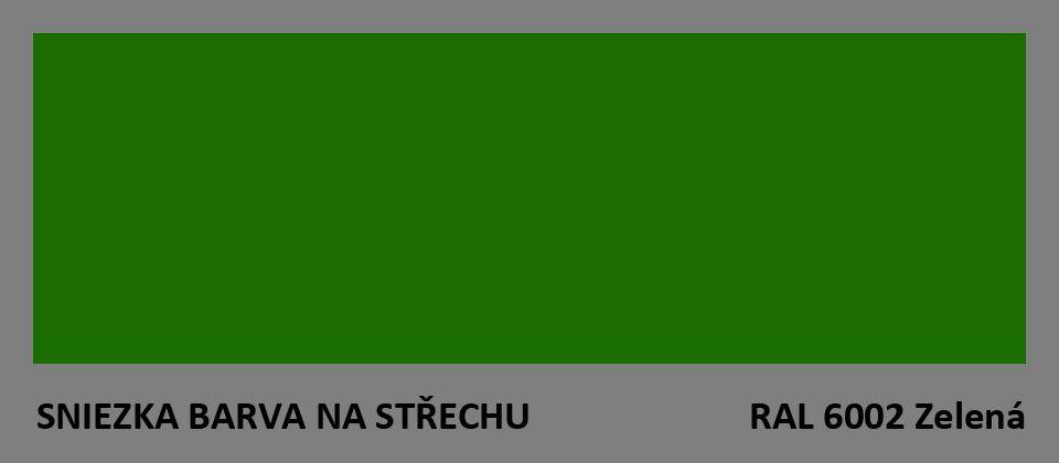 BARVA NA STŘECHU - vzorník - RAL 6002 zelená