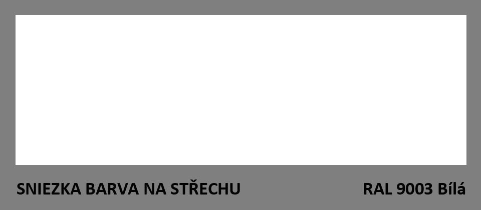 BARVA NA STŘECHU - vzorník - RAL 9003 Bílá