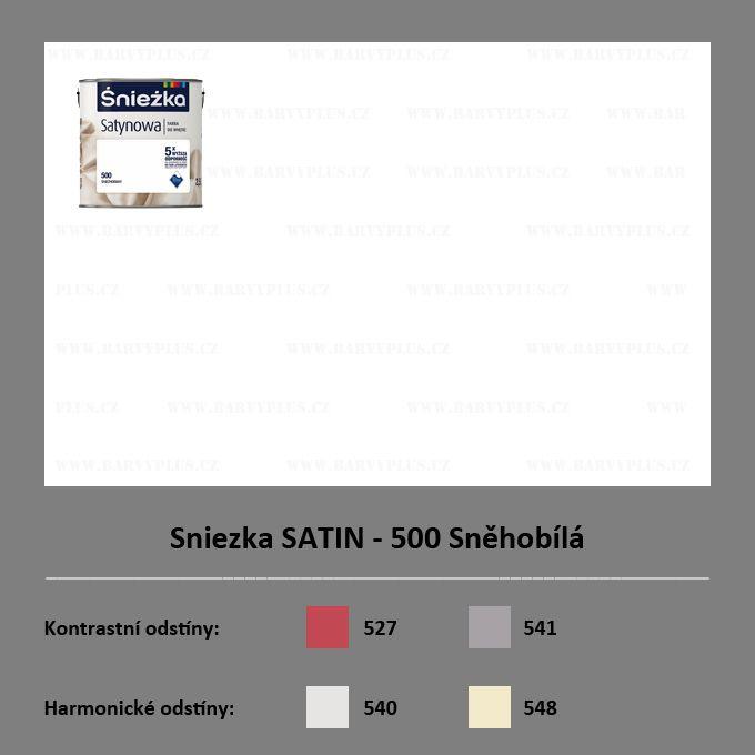Sniezka SATIN - 500 Sněhobílá
