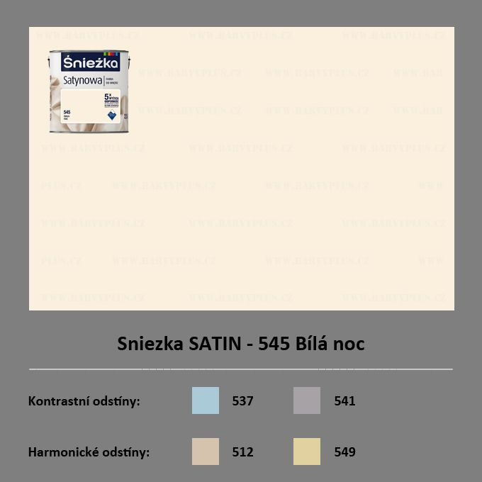 Sniezka SATIN - 545 Bílá noc