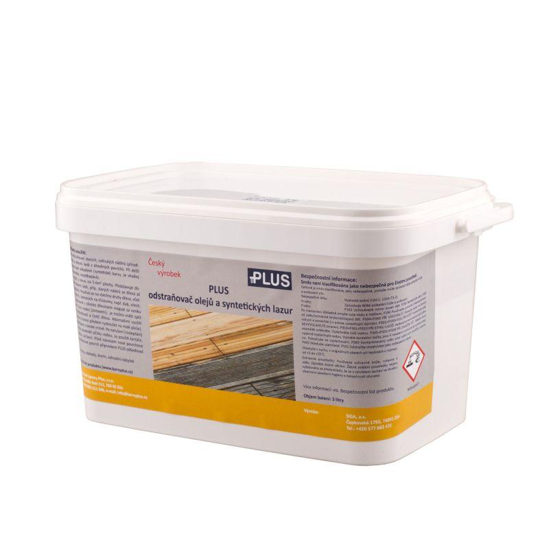 PLUS odstraňovač olejů a syntetických lazur (3L)