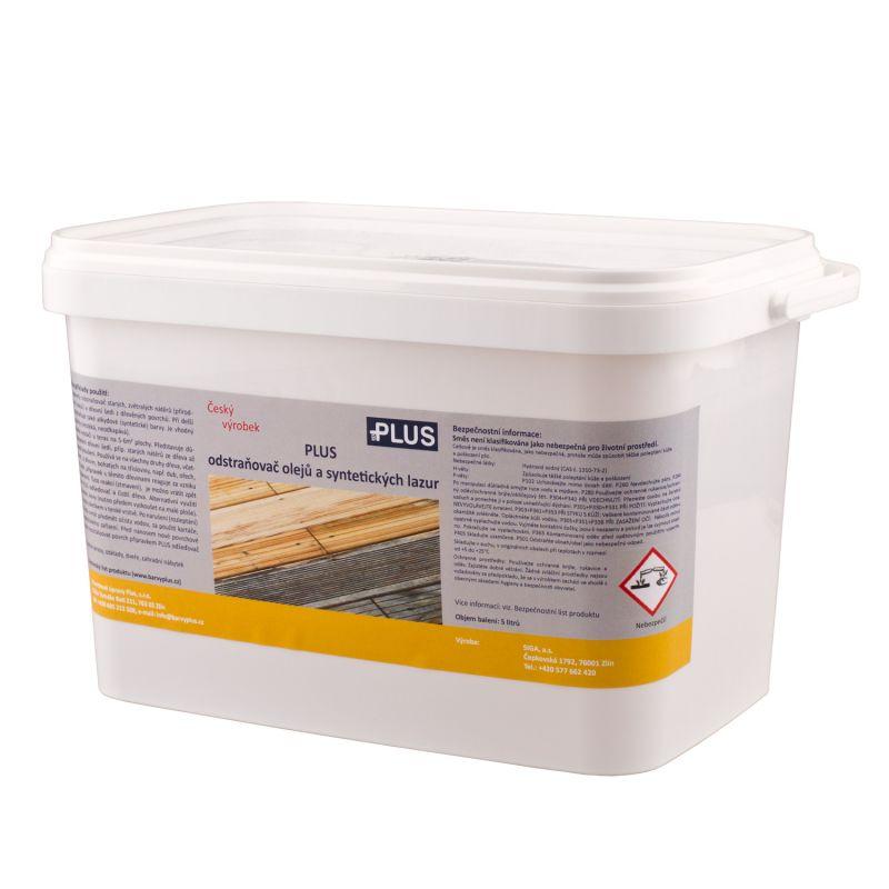 PLUS odstraňovač olejů a syntetických lazur (5L)