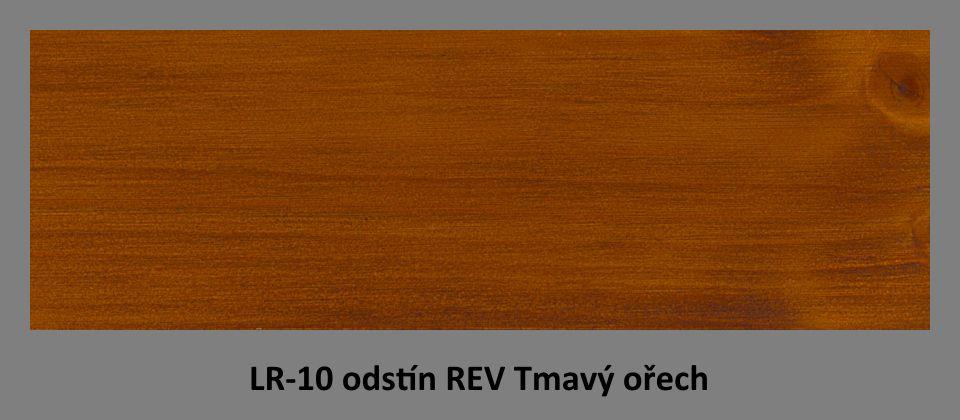 FOTO olejová lazura PLUS UV LR-10 v odstínu REV Tmavý ořech