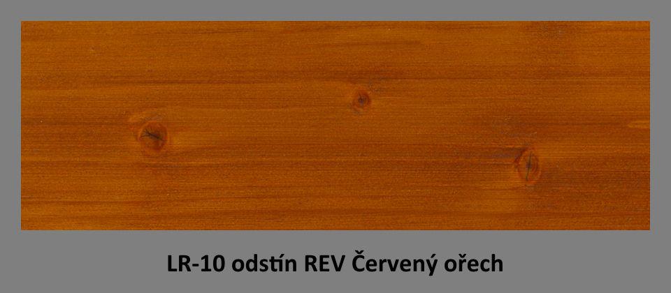 FOTO olejová lazura PLUS UV LR-10 v odstínu REV Červený ořech