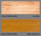 odstín Garapa UV+ ukázka barevné varianty PLUS UV terasový olej T-60