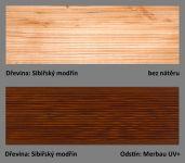 odstín Merbau UV+ ukázka barevné varianty Plus UV terasový olej T-60