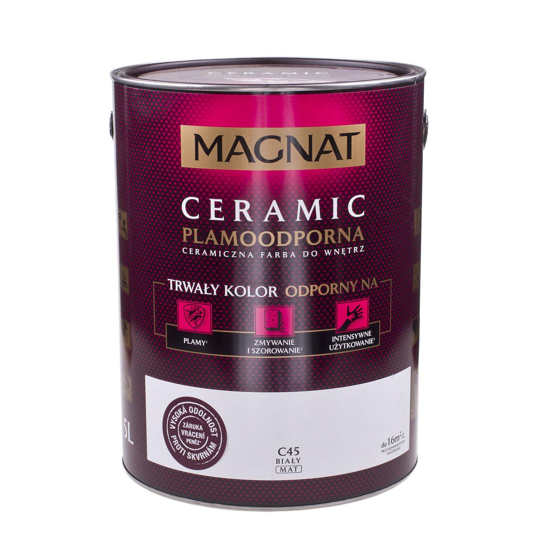 MAGNAT Ceramic - odolná matná omyvatelná barva do interiéru na stěny a stropy - 5L