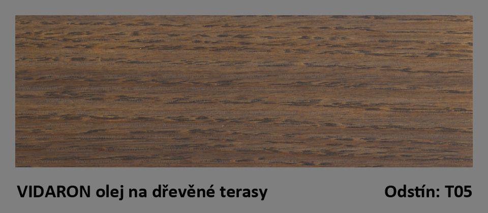 VIDARON olej na dřevěné terasy T05