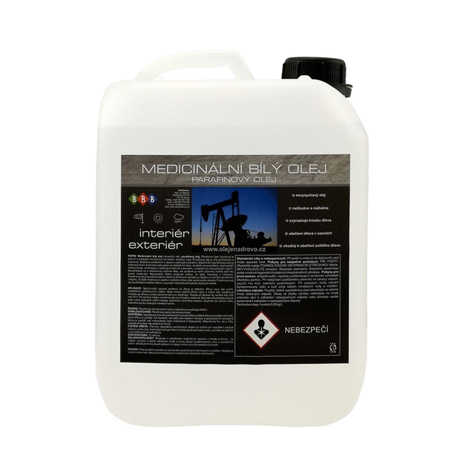 Parafinový olej na lavice v saunách (5L)